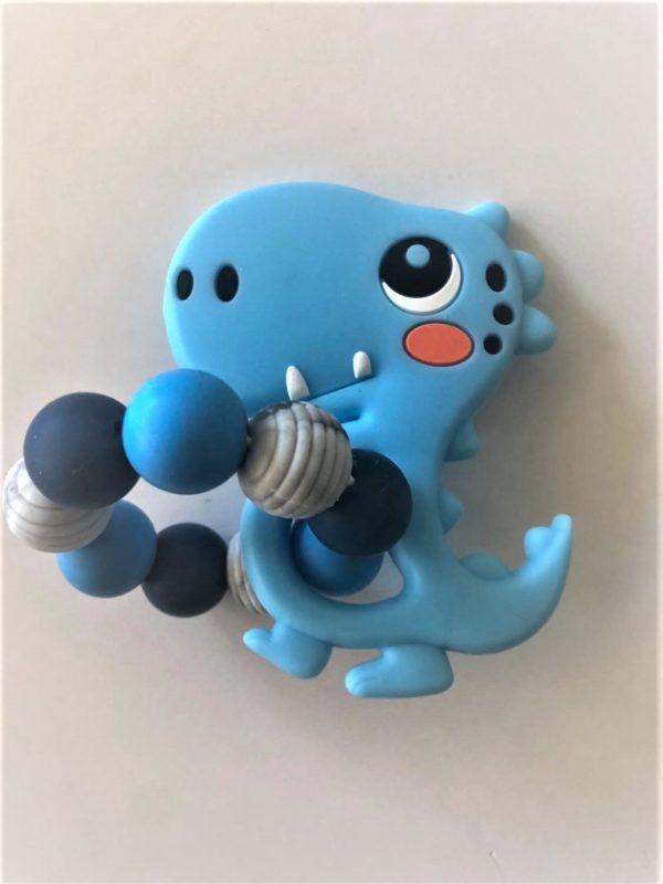 Silicone Teething rings blue dino