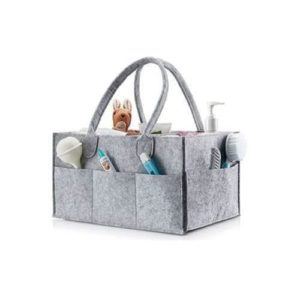 Felt Nappy Organiser in Grey