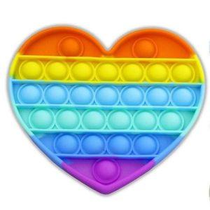 Sensory poppers for children heart shaped